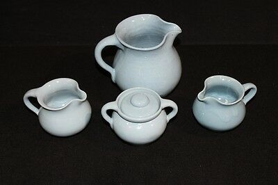 Lot of 4 Pc. Bybee KY Pottery in Blue, Pitcher, Creamer Mint Condition & Vintage