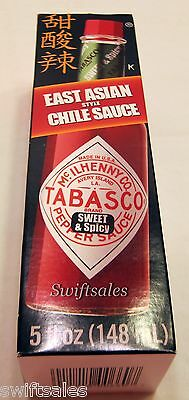 Tabasco Sweet & Spicy Pepper Sauce -East Asian Style Chile Sauce 5 oz - Fresh!