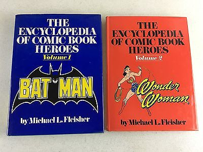 1976 The Encyclopedia of Comic Book Heroes Volume 1 & 2 by Fleisher - Estate