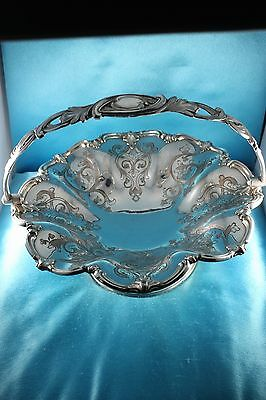 Antique Old Sheffield ~ JAMES DIXON & SONS BASKET ~ Heavy Silver Plate ♡