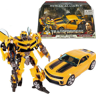 Transformers Bumblebee Human Alliance Robot Car Sam Witwicky Action Figures Toy