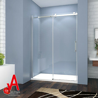 1200-1500x1950mm Wall to Wall Frameless Sliding Shower Screen Rail Adjustable