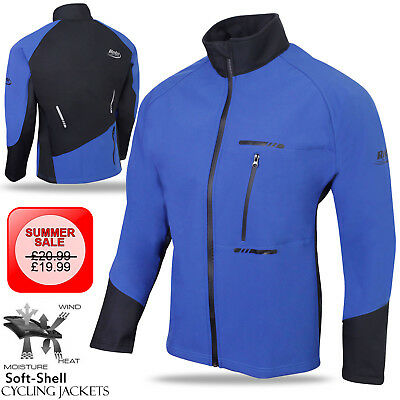 Cycling Winter Jacket Soft Shell Windproof Long Sleeve Coat Wind Thermal - BLUE
