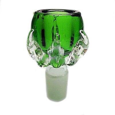18mm Green Dragon Claw Glass Slide Bowl Downstem - Fast Free USA Shipping