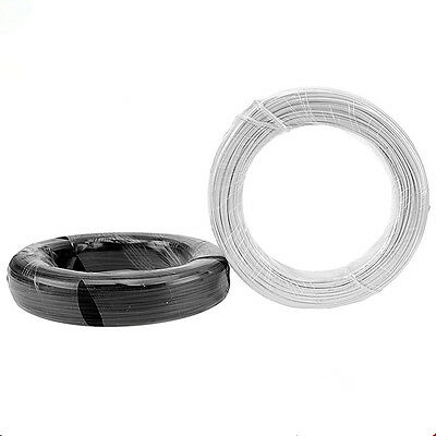 1-100m PVC Plastic Band Cable Black or White Tie Line Zinc Wire Binding