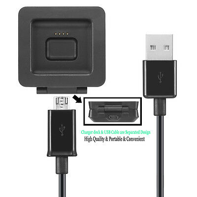 NEW USB Charging Charger Dock Cradle+USB Cable For Fitbit Blaze Watch UK
