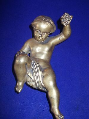 antique french bronze cherub