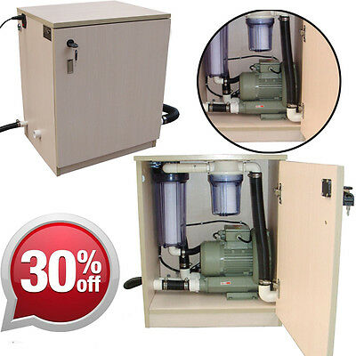 Dentist Portable Vacuum Suction Unit System for 3 Pcs Dental Chair W/ Wooden Box