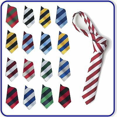 "New Good Quality Boys Girls SCHOOL EQUAL STRIPED TIES 40"" 45"" 48"" 52"" 54"""