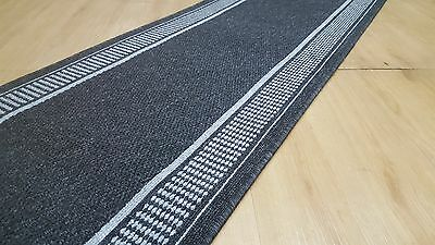 Hallway runner grey heavy quality/ Turkish made RubberBack/ Fully Overlocked