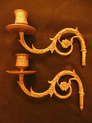 2-Arm Light For Piano Sconce, Era 19Th - Bronze - French Antique