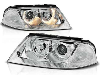 Angel Eyes Scheinwerfer Set VW Passat 3BG Facelift BJ 09.00-03.05 Klarglas / Chr