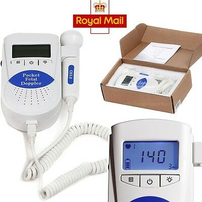 CONTEC Sonoline B Fetal doppler Baby Heart Monitor Backlight 3Mhz Probe EURO CE