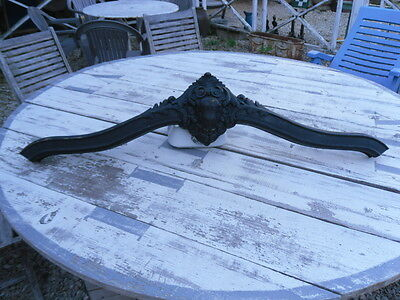 French antiquity:authentic wooden pediment blackened Napoleon 3