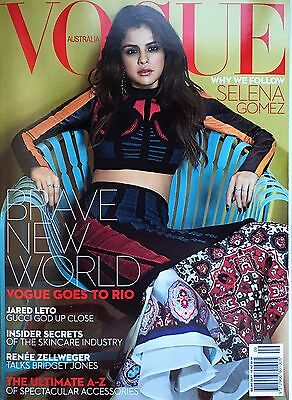 Vogue Magazine Australia September 2016 Selena Gomez Jared Leto Renee Zellweger