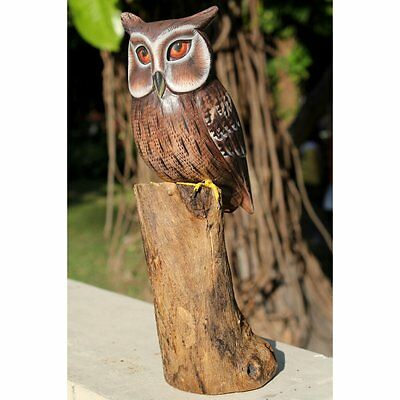 Fairtrade Solid Wooden Gamal Owl Statue