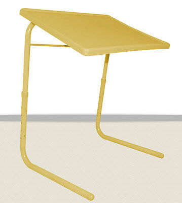 Seconds Yellow TableMate II Smart Dinner Tray Foldable Adjustable Table Mate 2