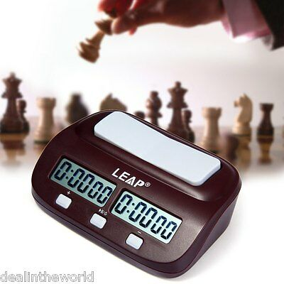 LEAP PQ9907 Digital Chess Clock I-go Count Up Down Timer