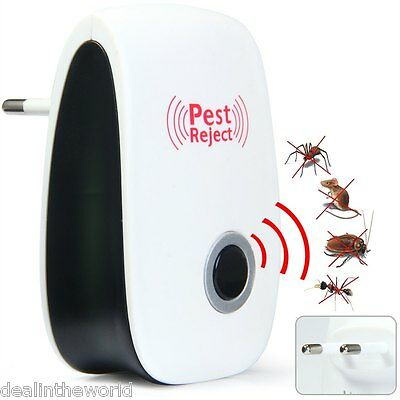 Multi-use Electronic Pest Repeller Ultrasonic Rejector for Mouse Bug Mosquito In