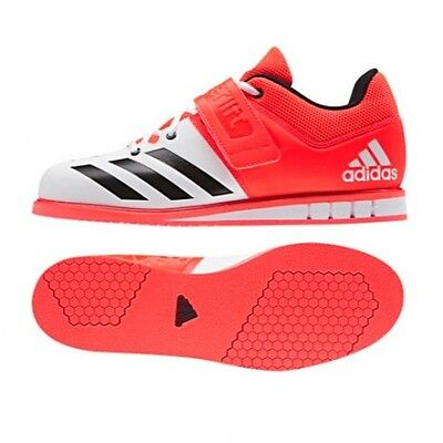 adidas Powerlift 3.0 Mens Weight Lifting Shoes - White - Free P&P