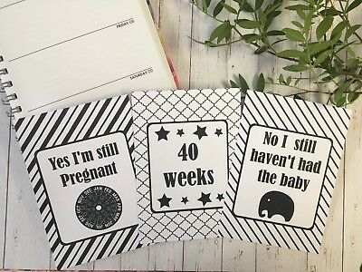 Pregnancy & Reality Journey Cards / Monochrome / DD012 / Unique Milestones