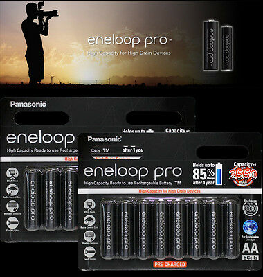 16x Panasonic Eneloop Pro NiMH LSD Rechargeable AA 2550mAh Battery MADE IN JAPAN