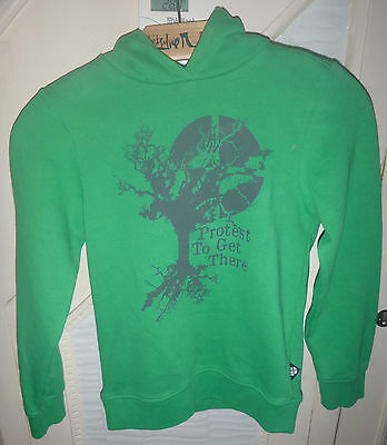 Protest Boys Green Hooded Jumper Hoodie - size 128 - 7/8 years