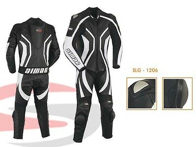 Mens Motorcycle Motorbike CE Approved Armour Leather Racing Bikers Suits ONE PCS