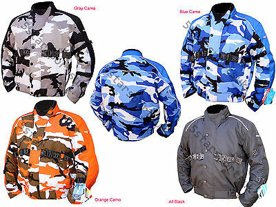 Men,s Motorcycle Motorbike Armoured waterproof CAMO Cordura  Jackets Collection