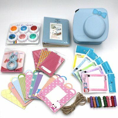7 in 1 Instax Mini 8 Camera Kitty Blue Bag Accessories Bundles Set for Fujifilm