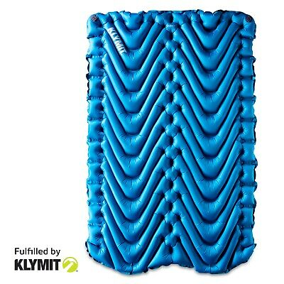 KLYMIT Static DOUBLE V Sleeping Pad BLUE Two-person Camping BRAND NEW