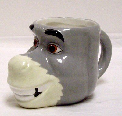 Shrek Coffee Mug 3D Figural Donkey Head Cup Ceramic Galerie 2004 Dreamworks
