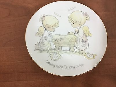 Precious moments bring Gods blessings to you collectors plate