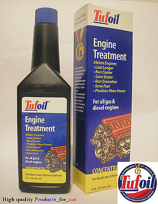 TUFOIL Engine treatment 237 ml 8 oz. Oil additive Lubricant for gas & diesel