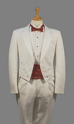 Men's - White Peak Tuxedo Tailcoat Tails Fulldress - All Sizes