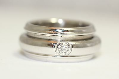 Piaget 18ct White Gold Spinning Possession Ring Size Q