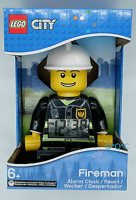 Lego LCD ALARM CLOCK Minifigure City Fireman NEW