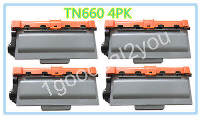 4 PK TN660 High-Yield Toner For Brother DCP-L2540DW HL-L2300D HL-L2340DW