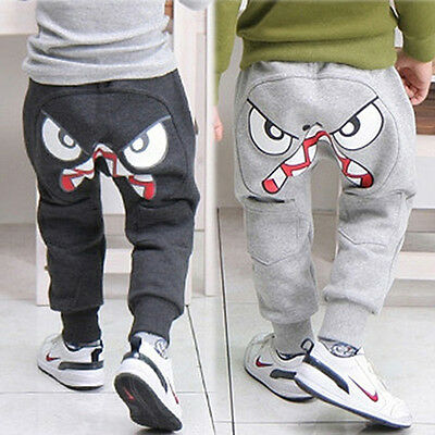 Popular Kids Boys Girls Clothes Harem Pants Baby Cartoon Trousers 2Y-8Y Optimal