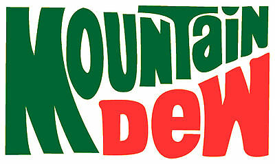 MOUNTAIN DEW Vinyl Decal / Sticker (VINTAGE) ** 5 Sizes **