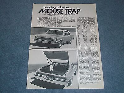 "1973 Chevy Nova Hatchback Vintage Info Article ""Building A Better Mouse Trap"""