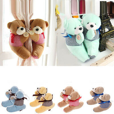 2Pcs Fluffy Bear Curtain Holder Buckle Tie Back Curtain Buckle Child Room Decor