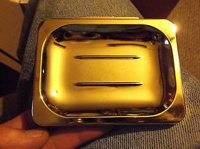 Vintage Style NEW GOLD-TONE SOAP DISH Holder Wall Mount Bathroom Kitchen Trailer