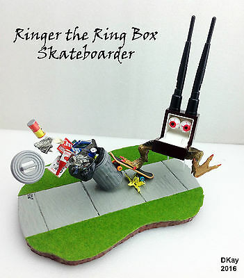Ringer The Ring Box Skateboarder - Hand Made Sculpture - Unique Ring Box Gift