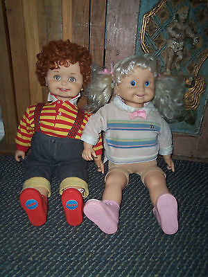 Vintage Cricket And Corky, Playmates, Talking Dolls