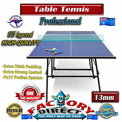BRAND NEW ITTF APPROVED PRO SIZE TABLE TENNIS PING PONG TABLE 13MM 274x152