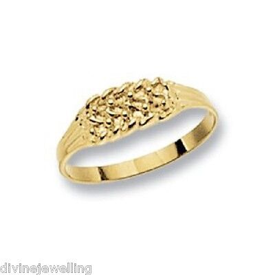 Baby / Child's Solid 9 Carat Gold Keeper Ring UK Jeweller
