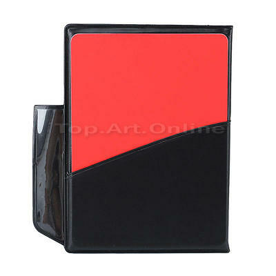 Sports Football Soccer Referee Wallet Notebook Set with Red Card & Yellow Card