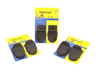 6 X Heavy Duty Mouse Traps Self Setting The Mouse Splatter- Rodents Beware
