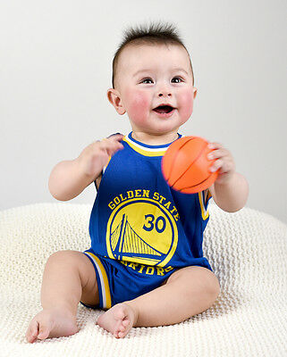 Baby Infant NBA Romper Jumpsuit Jersey Golden State Warrior #30 Stephen Curry